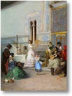 Картина Жанровая сцена в Алькасаре в Севилье