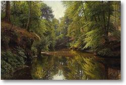 Картина Речной пейзаж