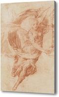 Картина Эскиз, аллегорическая фигура славы