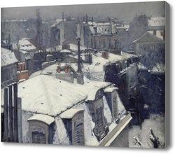 Картина Крыши в снегу