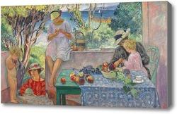 Картина Завтрак на террасе в Сент Максим