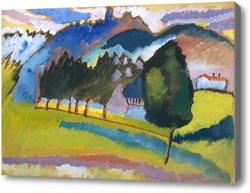 Картина Пейзаж с холмистой местностью