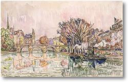 Купить картину Новый мост, Париж