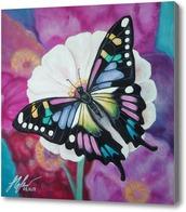 Картина Бабочка на цветке.