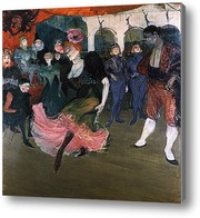 Картина Марсель Лендер, танцующая болеро в оперетте