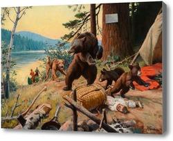 Картина Разбойники в лагере