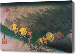 Картина Путешественники Внезапный дождь