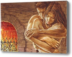 Картина Любовь у камина