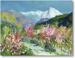 Картина И. Левитан Горы.Италия (авторская копия)