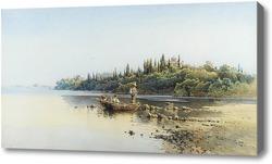 Картина Рыболовное судно, Корфу.Гиаллина Ангелос