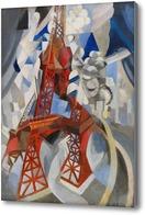 Картина Красная Эйфелева башня