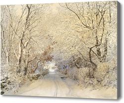 Купить картину Дорога,зимний пейзаж