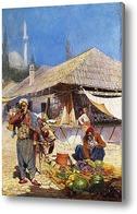 Картина Восточная сцена рынка
