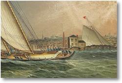 Картина Яхты ,возвращения