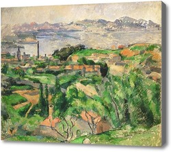 Картина Вид на залив Марсель с деревни Сен-Анри