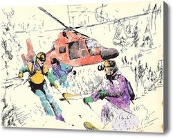 Картина Спорт в горах