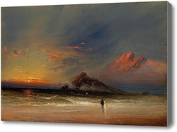 Картина Влюбленные на закате
