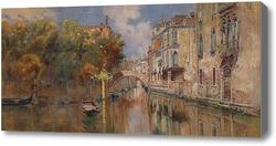 Купить картину Вид на канал в Венеции