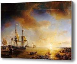 Картина Плавание в Луизиану Робера Кавальера де ла Салль в 1684 году