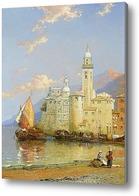 Картина Амальфи залив Салерно