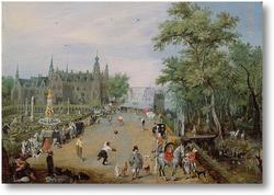 Картина Перед дворцом