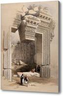 Картина Резной каменный проем в Баальбеке