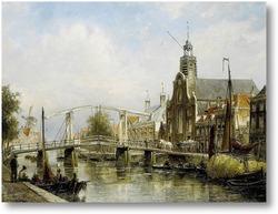 Картина Вид Амстердама