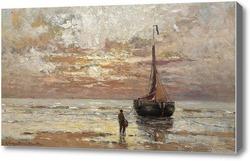 Картина Фигура на берегу, Манте Жерард