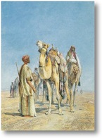 Картина Остановка в пустыне