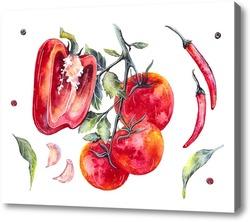 Картина Перец и помидор