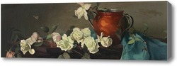 Купить картину Натюрморт с медным кувшином и розами