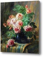 Купить картину Натюрморт с алыми розами