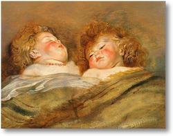 Картина Два спящих младенца