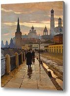 Картина Вид на Кремль со стороны набережной Москвы-реки