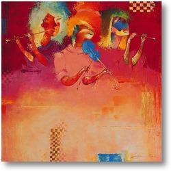 Картина Розовое трио