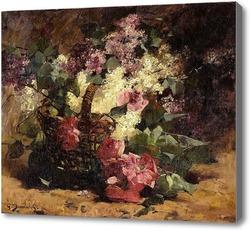 Купить картину Корзина с цветами