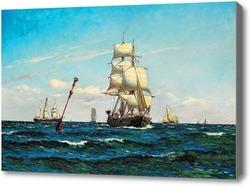 Картина Парусники на море.Локер Карл