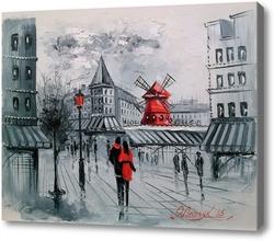 Картина Мулен Руж в Париже