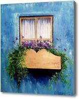 Картина Окошко в цветах