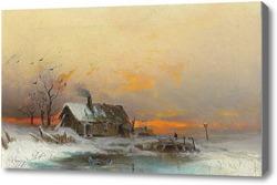 Купить картину Дом на воде