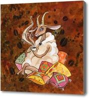 Картина Кофейная  овечка