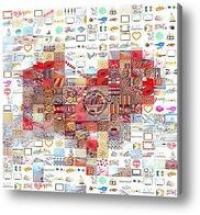 Картина Мозаика сердца