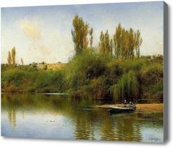 Картина Лодка на берегу Гвадайры