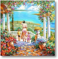 Купить картину На террасе