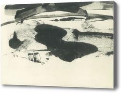 Картина черное озеро