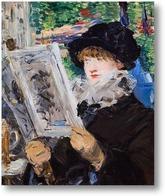 Картина Читающая женщина, 1879