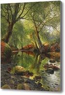 Картина Лесной поток