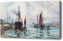 Купить картину Оживленная гавань