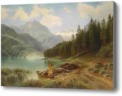 Картина Отдых на озере 1874