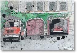 Картина Пожарное депо